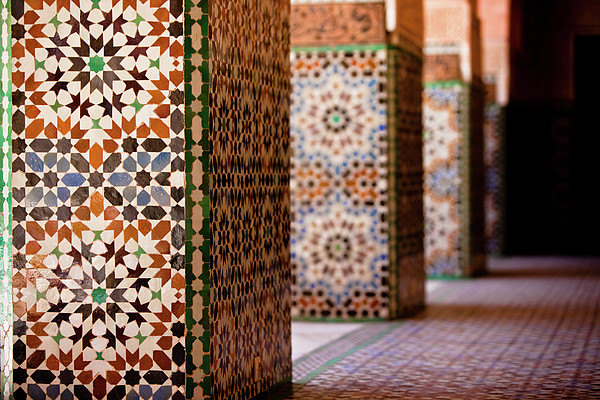Ben Youssef Medersa Print by Kelly Cheng Travel Photography