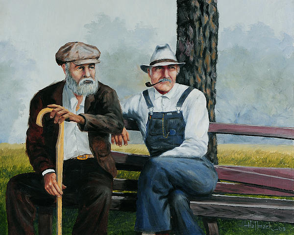 Bench Warmers Painting