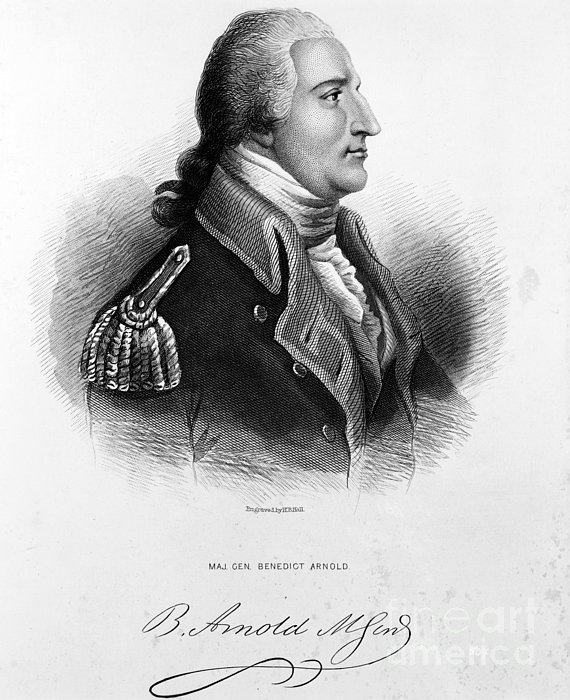 Benedict Arnold, American Traitor Print by Omikron