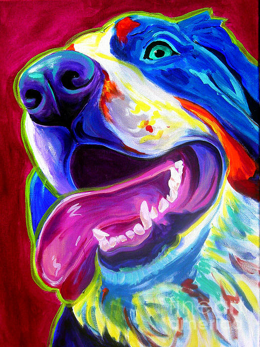 Bernese - Sunshine Print by Alicia VanNoy Call