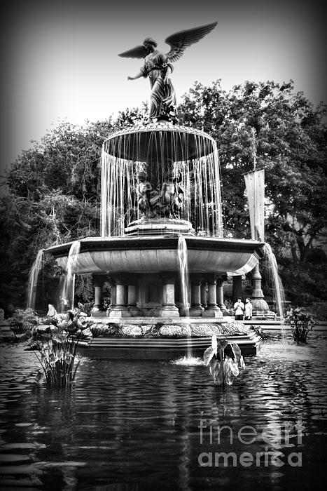 Bethesda Fountain Print by Paul Ward
