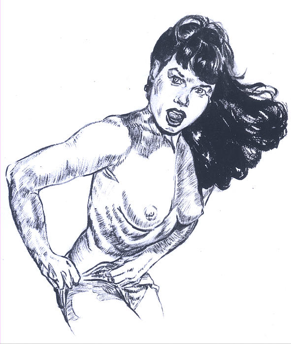betty page nude gallery. Bettie Page Caught Changing Painting - Bettie Page ...