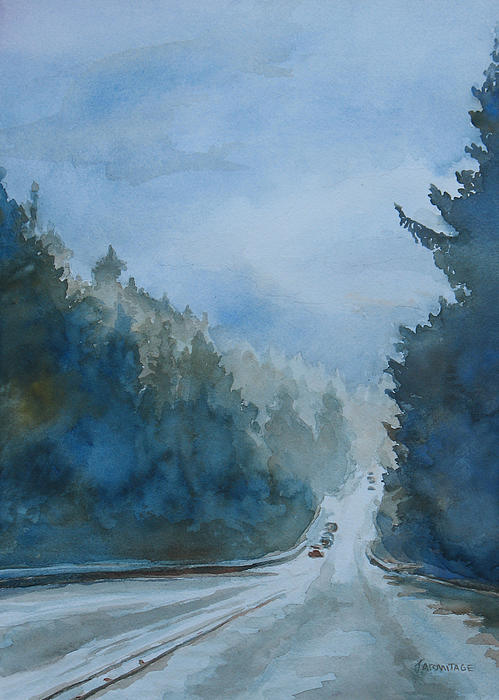 Between The Showers On Hwy 101 Print by Jenny Armitage