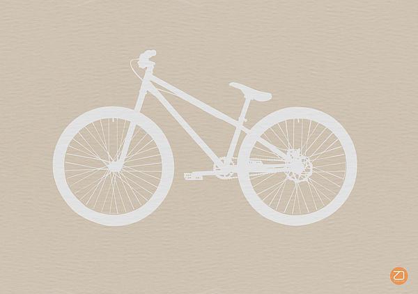 Bicycle Brown Poster Print by Naxart Studio
