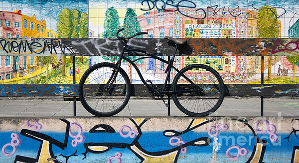 Bicycle Graffiti Print by Christos Koudellaris