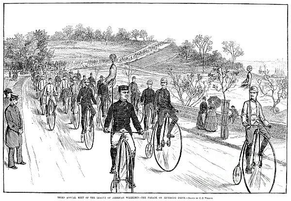 Bicycle Meet, 1883 Print by Granger