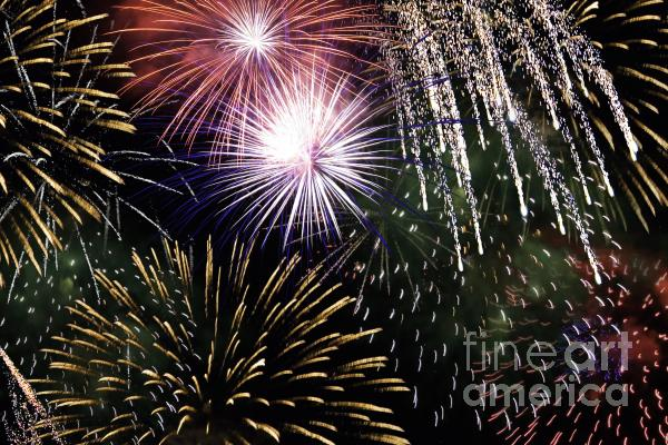 Big Bang Fireworks Photograph  - Big Bang Fireworks Fine Art Print