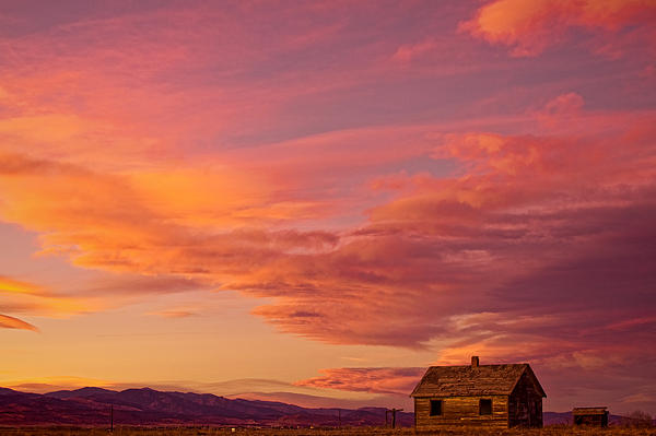 Big Colorful Colorado Sky And Little House On The Prairie Print by James BO  Insogna