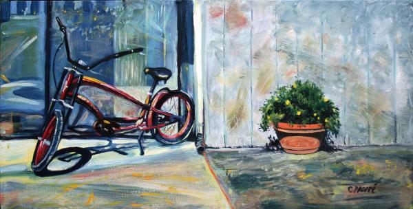 Big Red Sausalito Cruiser Print by Colleen Proppe