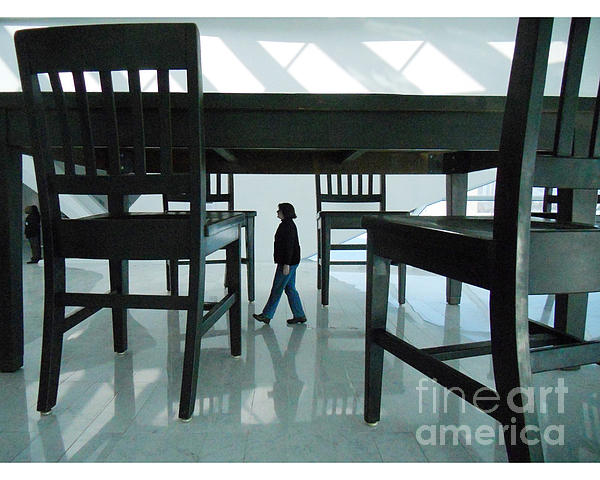 Big Table And Chairs Print by Jim Wright