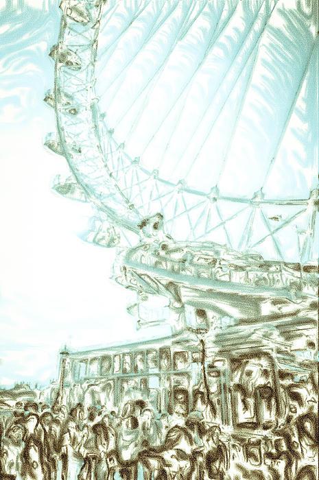 Big Wheel Print by Tom Gowanlock