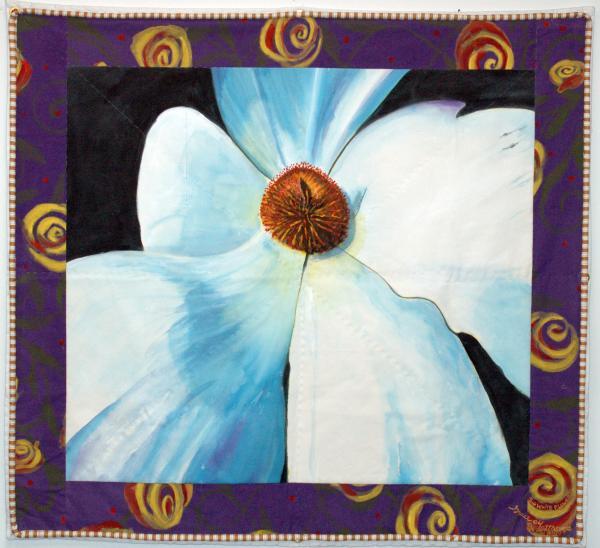Big White Flower Print by Grace Matthews