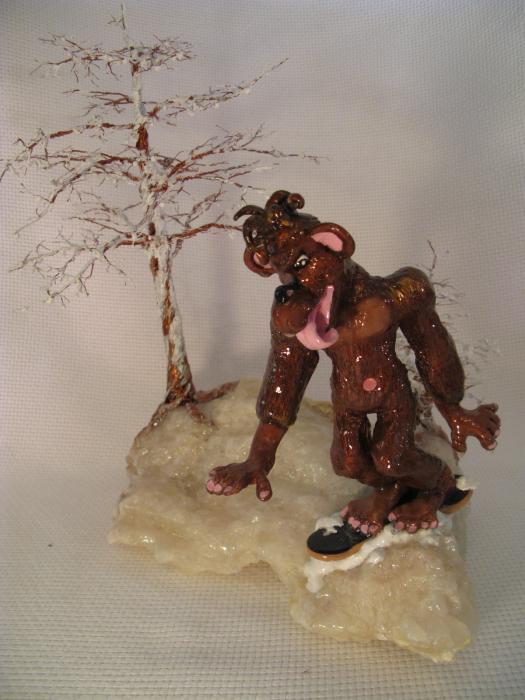 Bigfoot On Crystal Sculpture