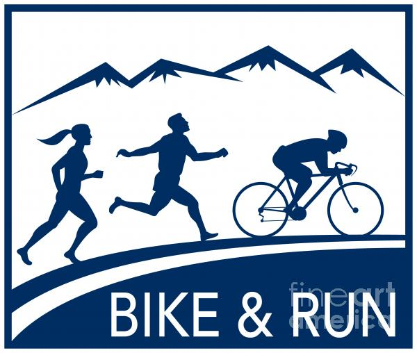 Bike Cycle Run Race Print by Aloysius Patrimonio