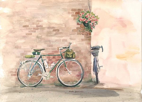 Bike date by mimi boothby for Bicycle painting near me