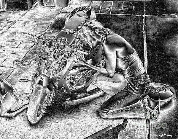 Cheryl Young - Biker Babe