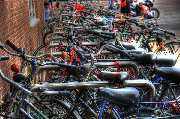 Bikes Print by Barry R Jones Jr