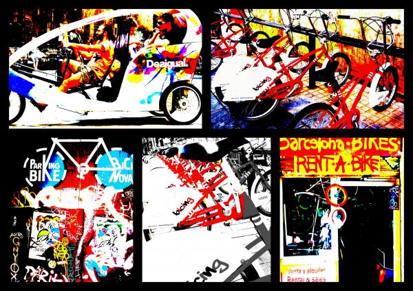 Biking In Barcelona Photograph  - Biking In Barcelona Fine Art Print