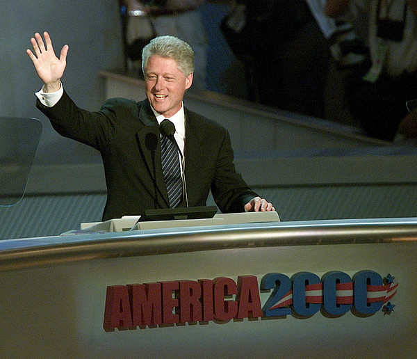 Bill Clinton, Touched By Emotion Print by Everett