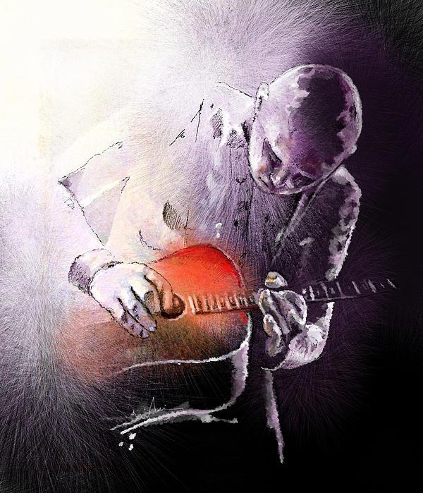 Billy Corgan Print by Miki De Goodaboom
