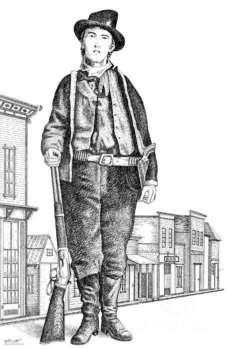Billy-the-kid Print by Gordon Punt