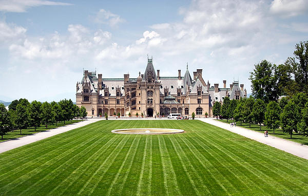 Biltmore Estate In Asheville North Carolina Print by Maxim Sivyi