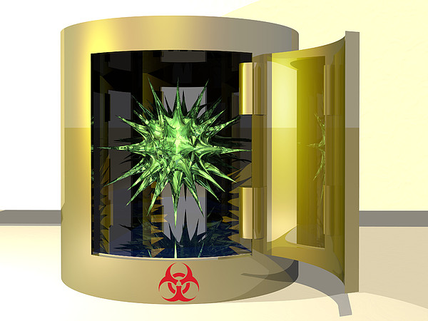 Biohazard Virus Print by Laguna Design
