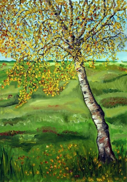 Birch Print by Nancy Van den Boom