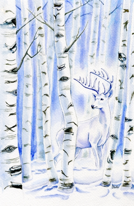 Birch Spirit Painting  - Birch Spirit Fine Art Print
