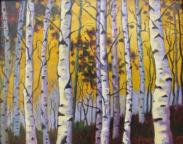 Birches Print by Dan Fusco
