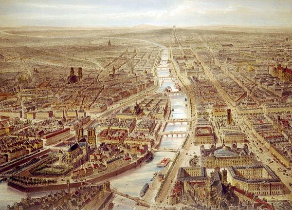 Birds-eye View Above The St. Gervais Print by Everett