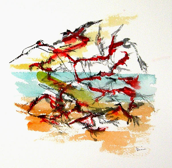 Birds In Flight Painting  - Birds In Flight Fine Art Print