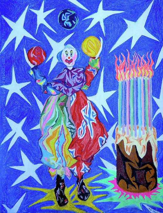 Birthday Clown Painting
