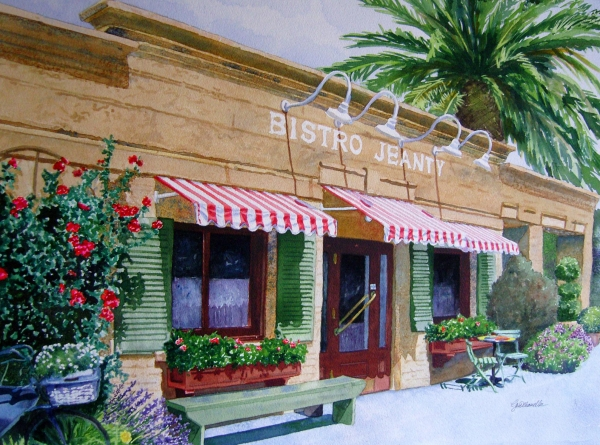 Bistro Jeanty Napa Valley  Print by Gail Chandler