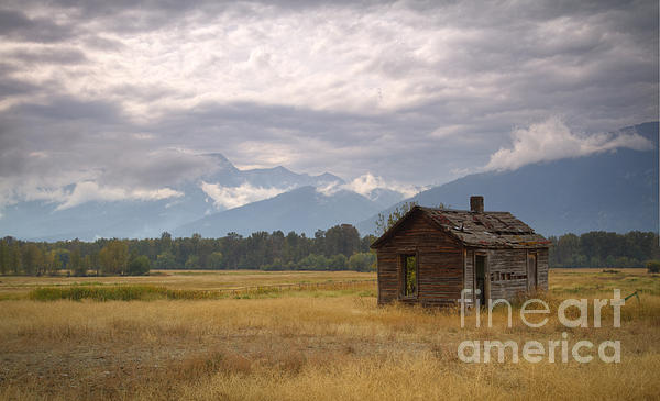 Bitterroot Homestead Print by Idaho Scenic Images Linda Lantzy
