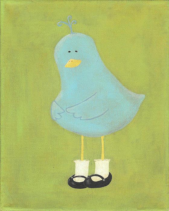 Bitty Bird's New Shoes Nursery Art Print by Katie Carlsruh