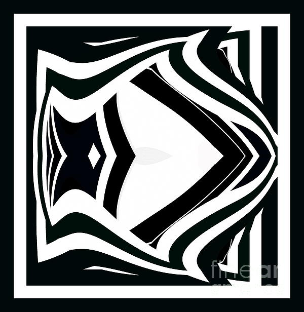 Drinka Mercep - Black and White Abstract Art No.211.