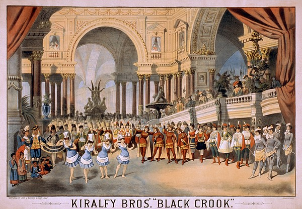 Black Crooks Was First Produced In New Print by Everett