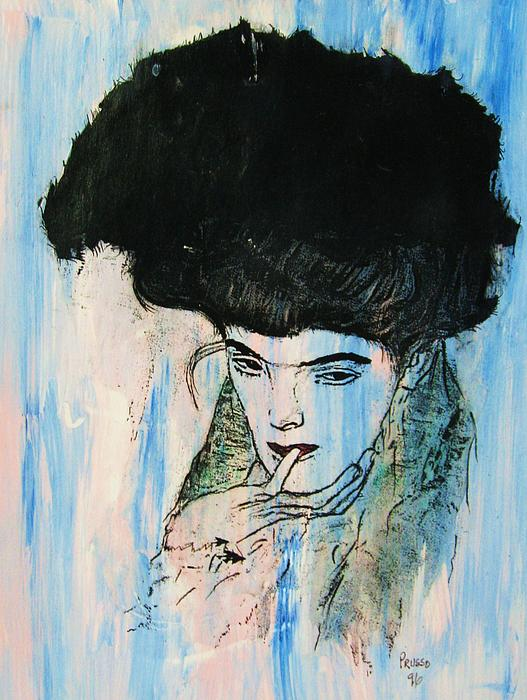 Roberto Prusso - Black Feather Hat