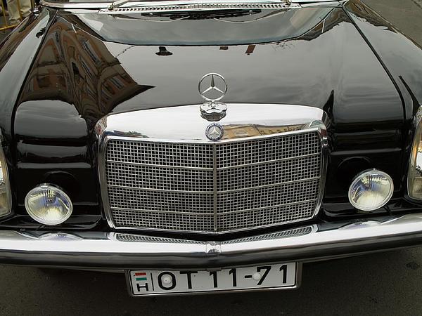 Black Mercedes Logo Print by Odon Czintos