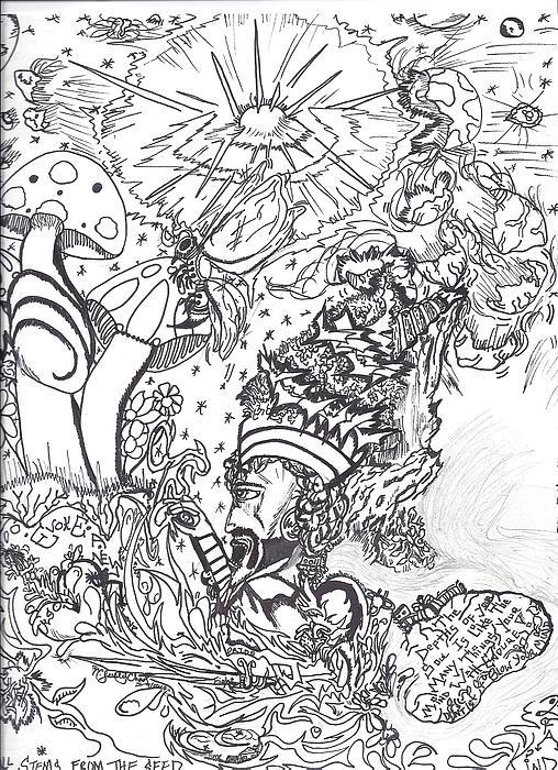 Black N White Print by Justin Chase