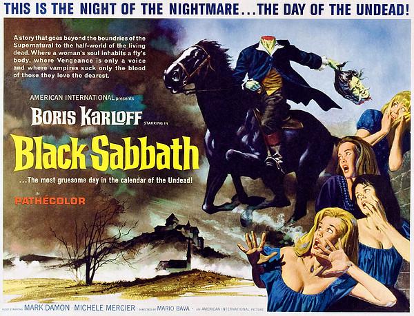 Black Sabbath, Aka I Tre Volti Della Print by Everett