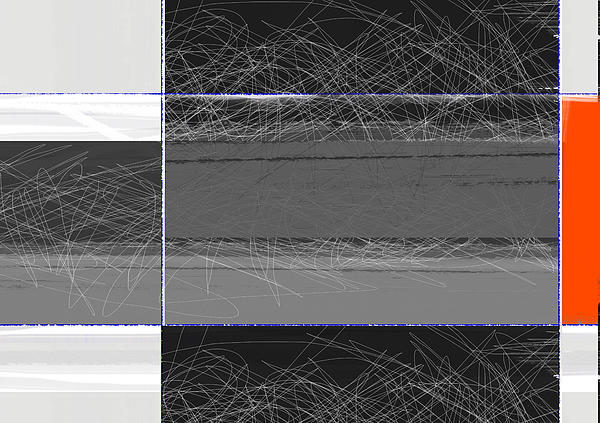 Black Square Print by Naxart Studio
