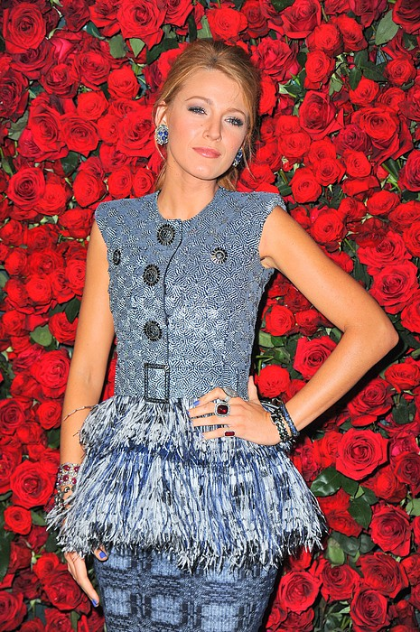 Blake Lively Wearing A Chanel Couture Print by Everett
