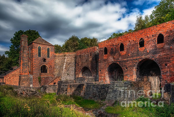 Blast Furnaces Print by Adrian Evans