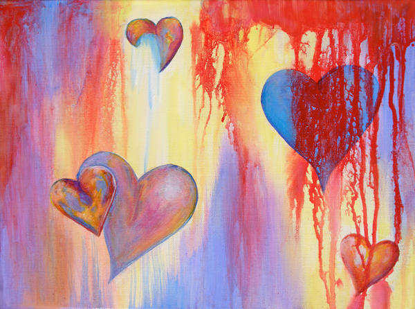 Bleeding Hearts Painting