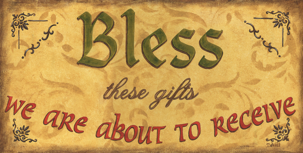 Bless These Gifts Print by Debbie DeWitt