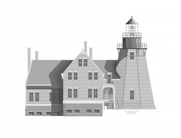 Block Island South East Rhode Island Print by Anne Norskog