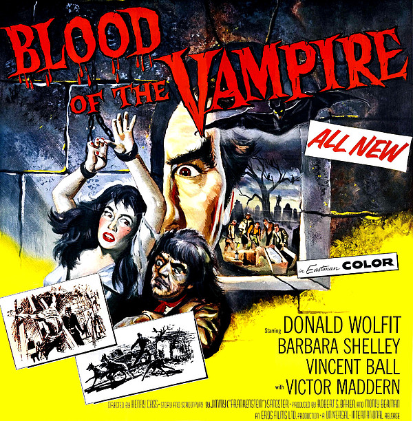 Blood Of The Vampire, From Left Barbara Print by Everett