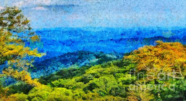 Blowing Rock Nc View Print by Elizabeth Coats